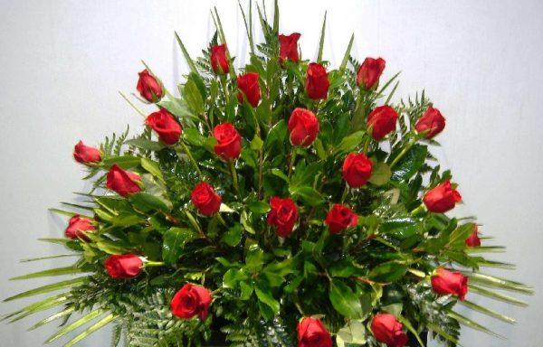 Centro 30 rosas rojas